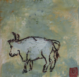 "2007 6"" x 6"" encaustic on board (ca)"