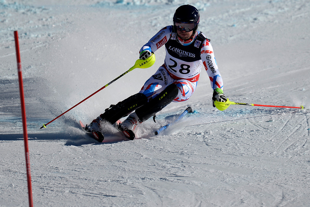 . BEAVER CREEK, CO - FEBRUARY 08: Maxence Muzaton of France during the men\'s alpine combined final. FIS Alpine World Ski Championships 2015 on Sunday, February 8, 2015. (Photo by AAron Ontiveroz/The Denver Post)