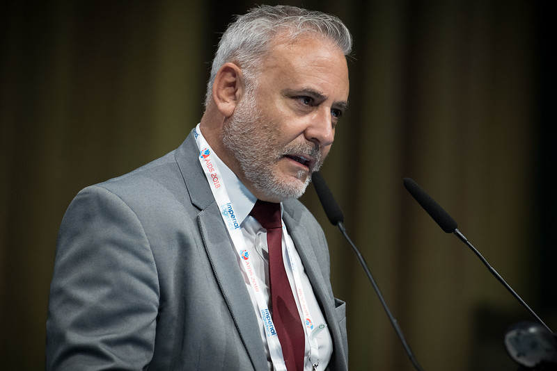 22nd International AIDS Conference (AIDS 2018) Amsterdam, Netherlands   Copyright: Marcus Rose/IAS  Photo shows: STI 2018. Speaker: Andrew Amato. 'Epidemiology-High Income Countries'.