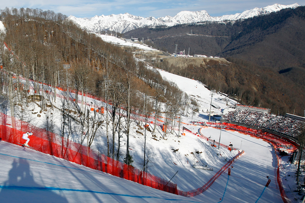 . Bode Miller of the USA competes during the Alpine Skiing Men\'s Super Combined at the Sochi 2014 Winter Olympic Games at Rosa Khutor Alpine Centre on February 14, 2014 in Sochi, Russia. (Photo by Alexis Boichard/Agence Zoom/Getty Images)