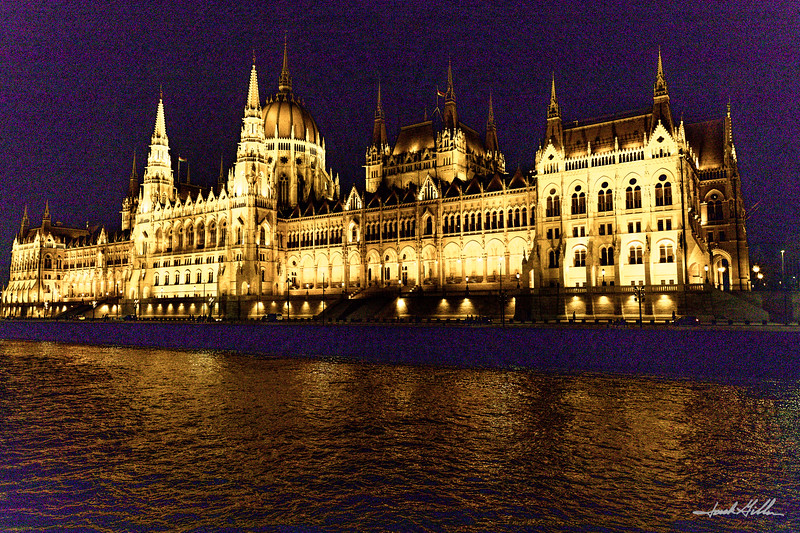 Lights of Budapest from the Danube River