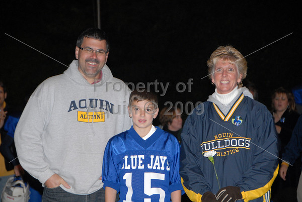 8th grade football parent night 10.6.09