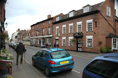 Newent Village UK with surrounding areas Oct 2008