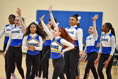 02/27 - Glenview Cheerleaders Girls Basketball vs Geneseo