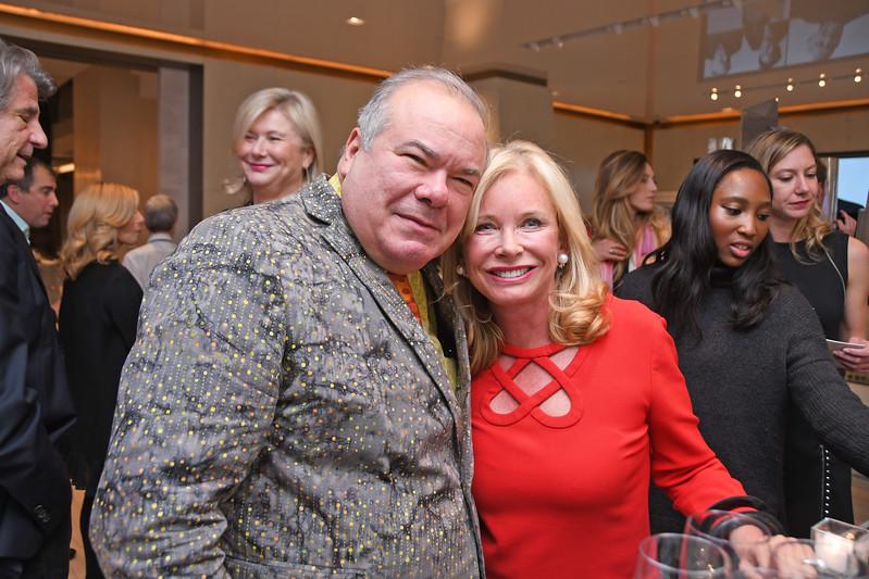 Hunt Slonem, Sharon Bush AVENUE MAGAZINE Presents the SALON DINNER & CONVERSATION with Architect and Designer DAVID ROCKWELL  10 Hudson Yards NYC, USA - 2017.10.17 Credit: Lukas Maverick Greyson