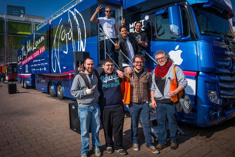 2014_03_12, Frankfurt, Germany, Messe Frankfurt, Bus, Line, eu.lb.org