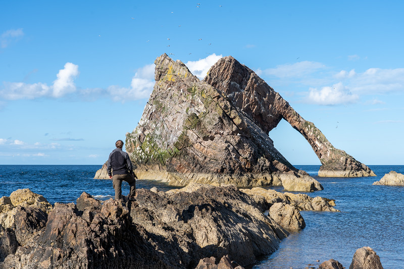 Elliot at Bow Fiddle Rock