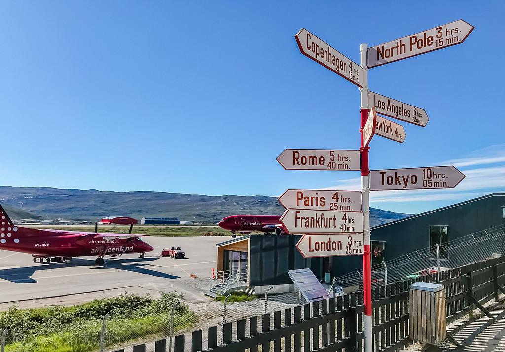Kangerlussuaq Airport Sign - Greenland - Lina Stock