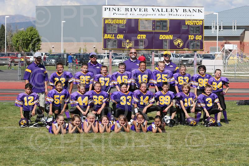 September 27, 2014 5th Grade YAFL Bayfield Wolverines vs Shiprock Lil Chiefs