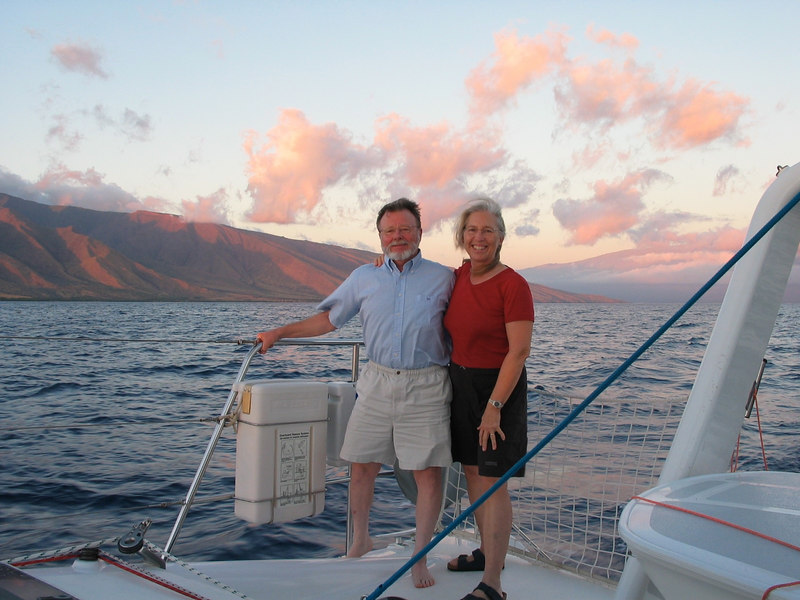 View from ADAGIO in the Alalakeiki Channel, south of Maui -- Dorothy and Steve