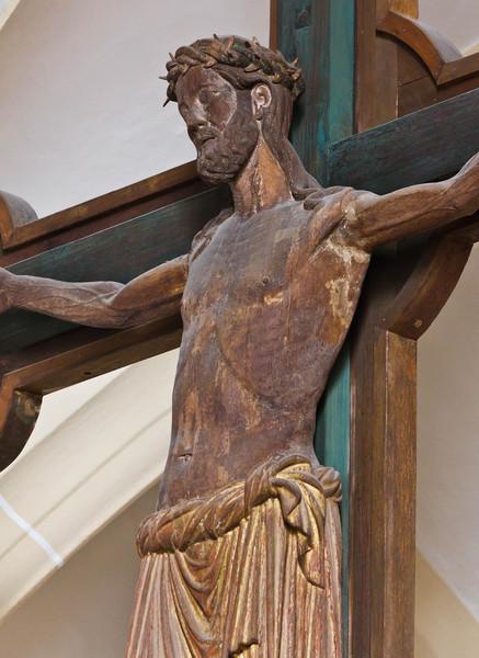 Freiberg, Dom. Triumpfkreuz: Christus, Detail