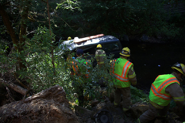 Handicapped driver that went off Sutter Creek Volcano Road is rescued 12 hours later.