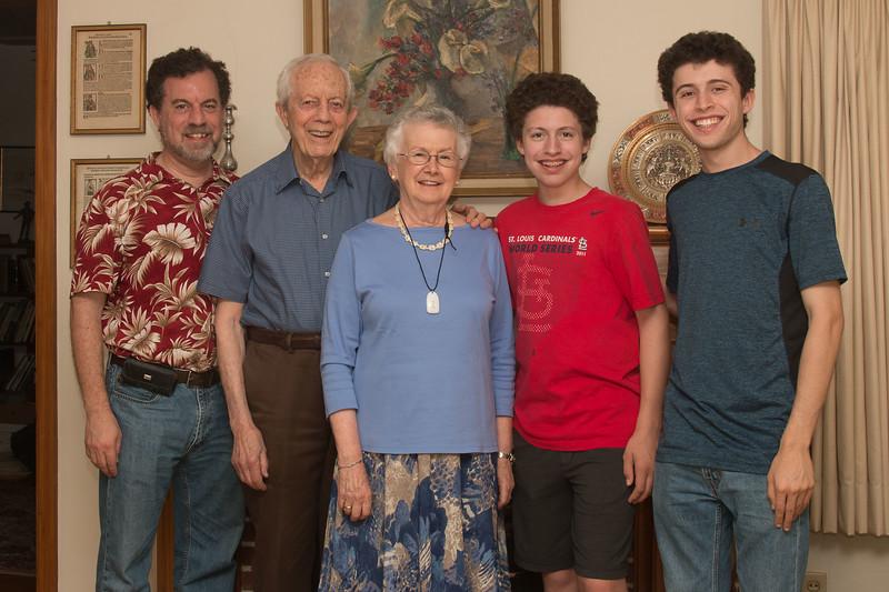 David, Michael, Jessica, Rafael, and Noah Friedlander, St. Louis, August 26, 2017.