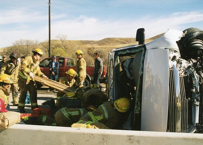 I-25 and Surry Ridge Rollover