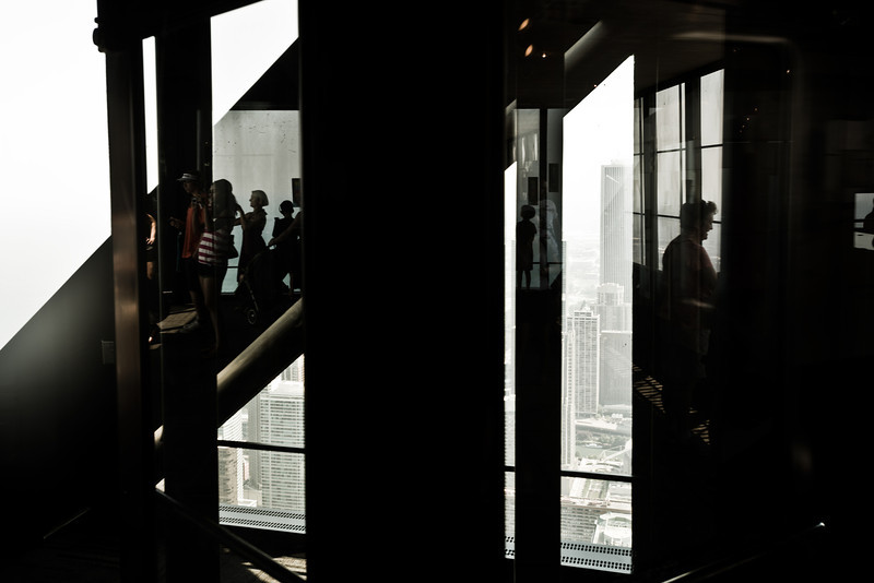 94th floor, John Hancock Center, Chicago, with a glimpse of its iconic X-bracing©Yangchen Lin