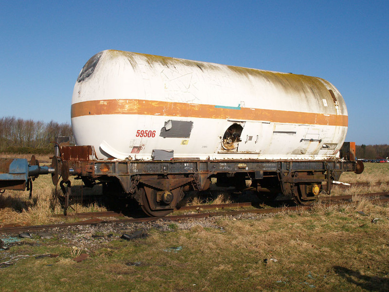 Tank 59506 at Moreton on Marsh Fire Brigade Training Centre 08/03/09