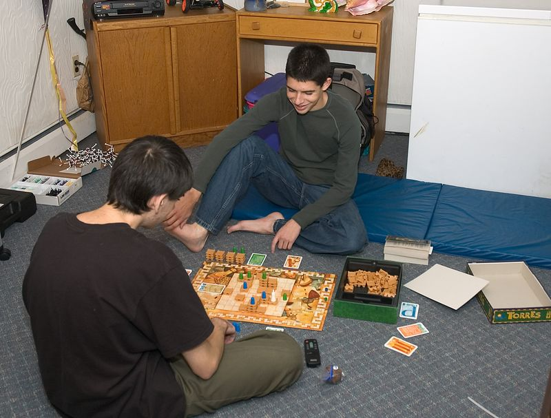 Ben and Sam play a game downstairs   (Nov 26, 2004, 04:27pm)