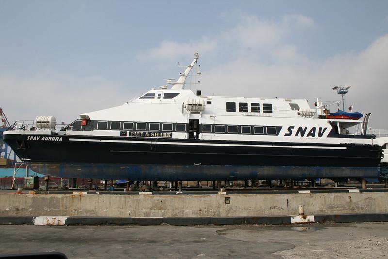 2008 - HSC SNAV AURORA in dry dock in Napoli.