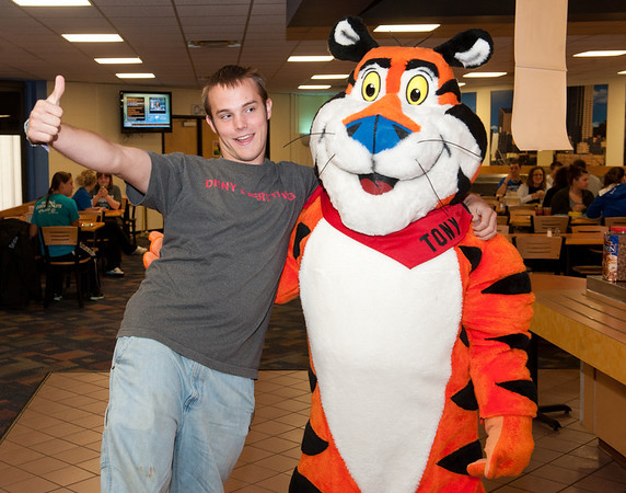 President Bradley and Tony the Tiger