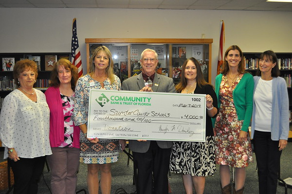 2019 - Community Bank & Trust - Tee Time For Tots Golf Tournament Donation