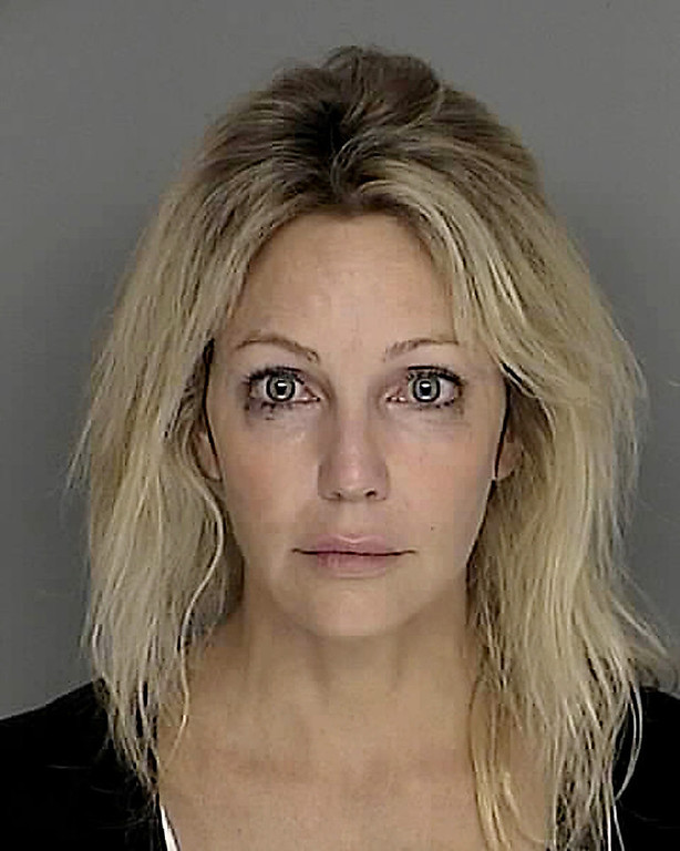 . Actress Heather Locklear is shown in this photograph released by the Santa Barbara County Sheriff\'s Dept. Sunday, Sept. 28, 2008, in Santa Barbara, Calif. Locklear was arrested on suspicion of driving under the influence of a controlled substance in the upscale Santa Barbara area, authorities said Sunday. (AP Photo/Santa Barbara County Sheriff\'s Dept.)