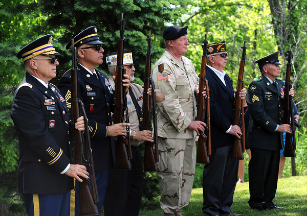 5/26/2018 Mike Orazzi   Staff The 21-gun salute during the Town of Berlin Memorial Day activiites Saturday.
