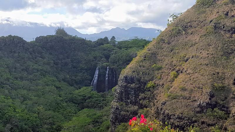 Opaekaa Falls lookout