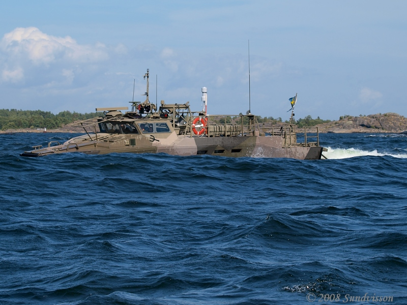 """20 - """"Combat boat hiding in the waves"""" by Knight Palm  Ref: http://www.soldf.com/strb90h.html http://www.safeboats.com/default/video/files/cb90.wmv"""