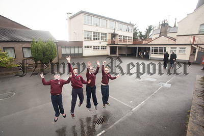 Pupils Christopher McCann, Ethan Culpin, Chloe Cunningham and Aoife Campbell. R1606025