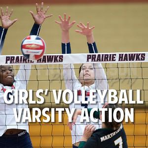 Prairie Girls Volleyball Action