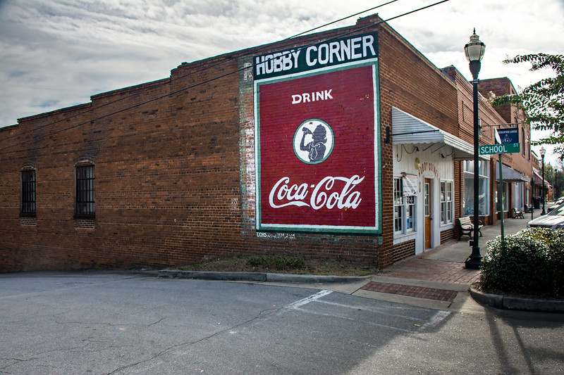 GA, Lincolnton - Coca-Cola Wall Sign