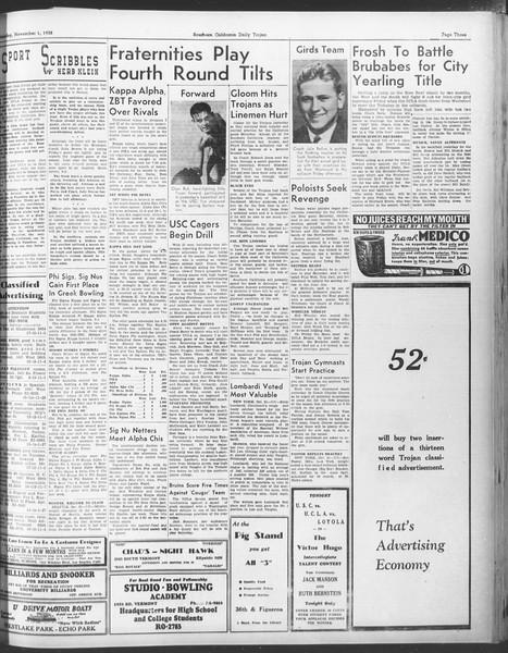 Daily Trojan, Vol. 30, No. 32, November 01, 1938