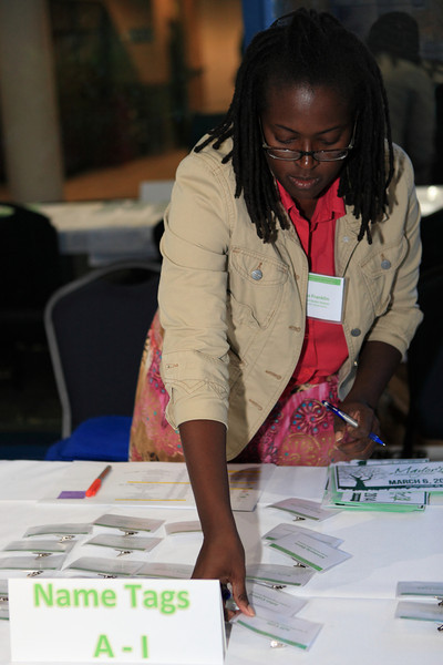 Latasha was another of the tireless registration workers.
