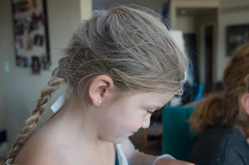 White hair of Elsa.