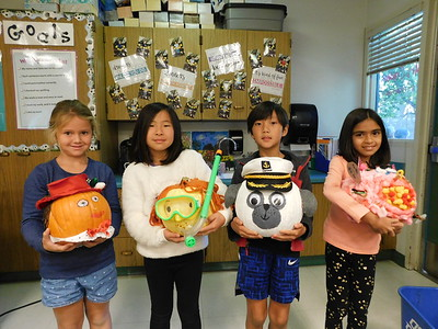 LCE Welcomes Pumpkin Characters to School
