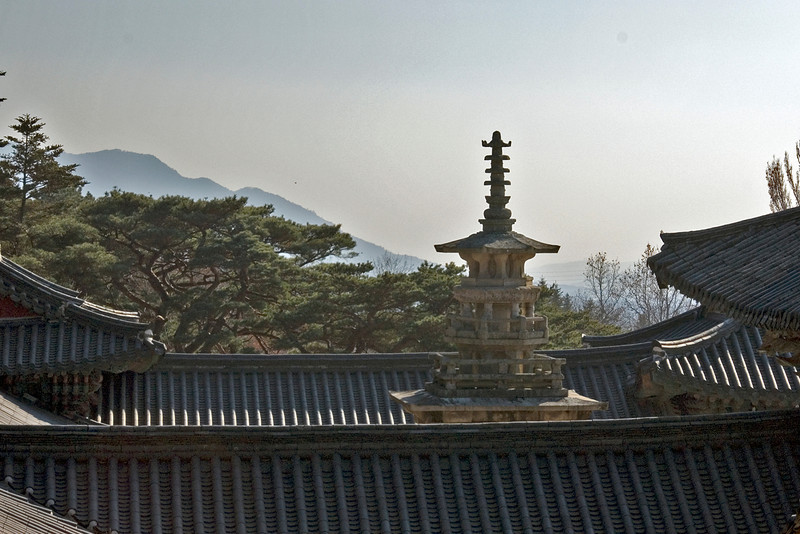 Stone Pagoda at the rooftop of Gulguksa Temple - Gyeongju, South Korea