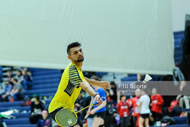 TORONTO, CANADA - Feb 15: during OCAA Badminton Provincials at University of Toronto. Photo: Michael Fayehun/F10 Sports Photography