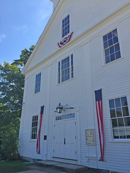 Francestown Improvement & Historical Society. Former Academy. September 9, 2015.