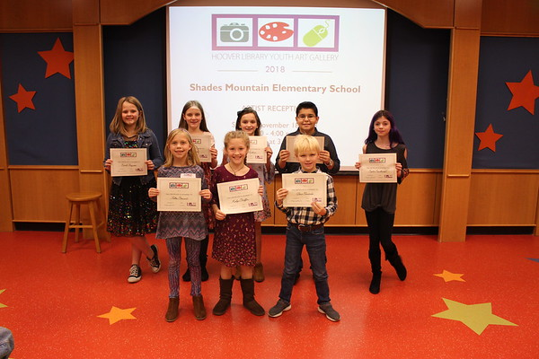 Shades Mountian Elementary Young Artist Reception 2018