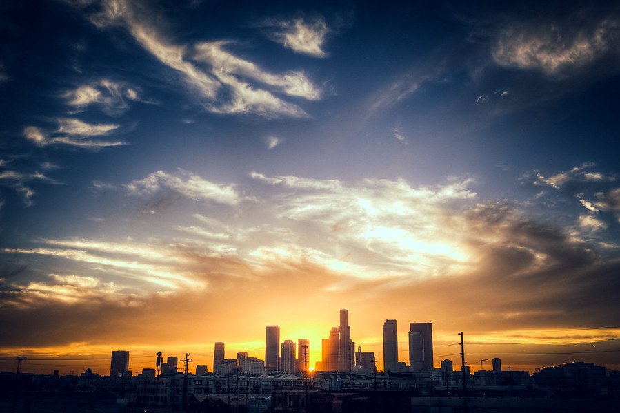 The Los Angeles Skyline in HDR.