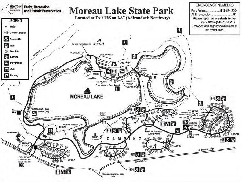 Moreau Lake State Park (Campground Map)