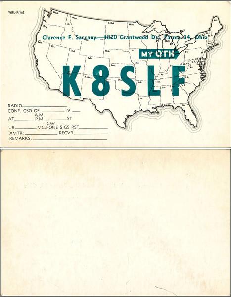 W8DFL QSL Cards - 9/5/2011