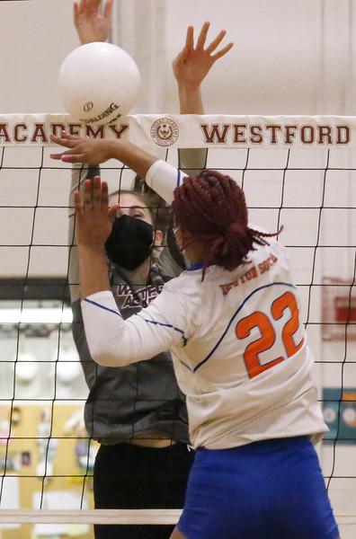 Westford Academy v Newton South volleyball 031121