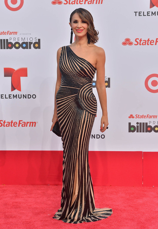 . MIAMI, FL - APRIL 25:  Catherine Siachoque arrives at Billboard Latin Music Awards 2013 at Bank United Center on April 25, 2013 in Miami, Florida.  (Photo by Gustavo Caballero/Getty Images)