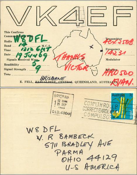W8DFL QSL Cards 5/23/2011