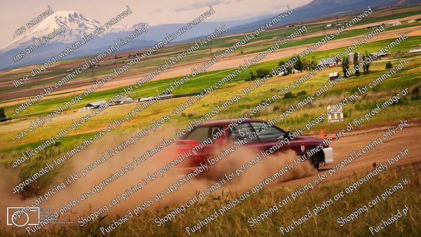 67 Red Subie Sedan