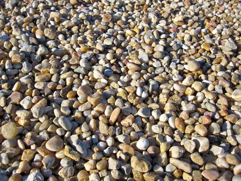 The crawlerway is covered with riverstones chosen for their low friction properties to deter sparking during transport. Photo by Jim