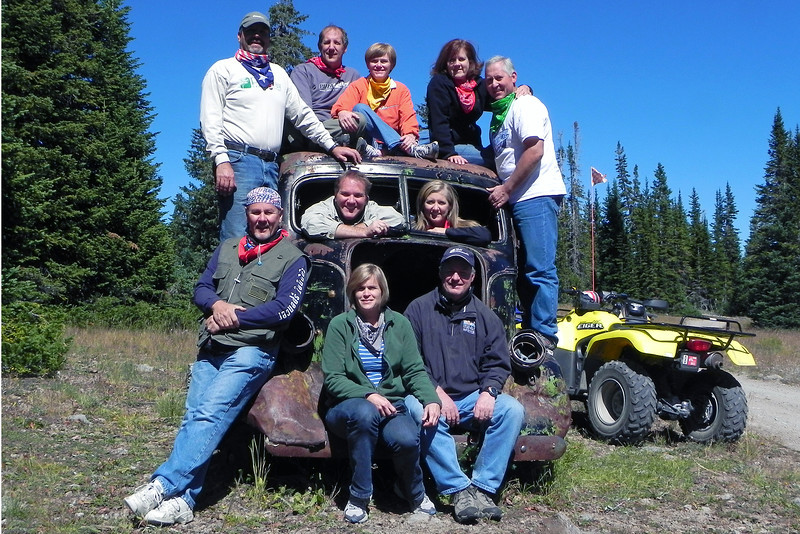 2011/9/22 – Every year we get a good group shot of everyone that does our annual ATV trip. This year we found this old abandoned delivery truck and used it for our group shot. This is my favorite one so far.