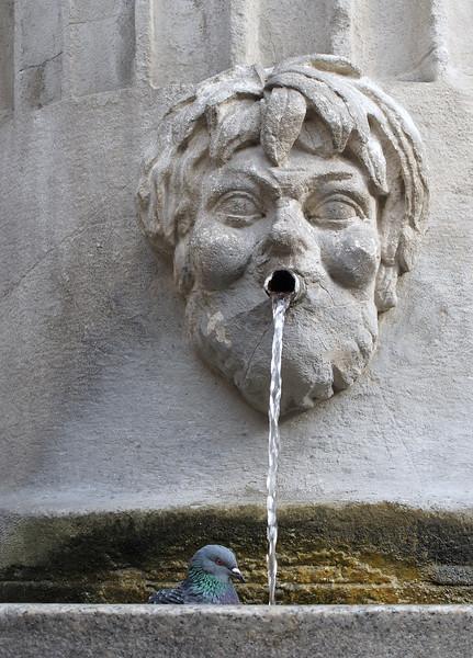 Crostolo Statue Detail - Piazza del Duomo, Reggio Emilia, Italy - October 11, 2010