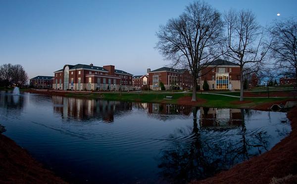 2018-02-27 Elon campus at dusk
